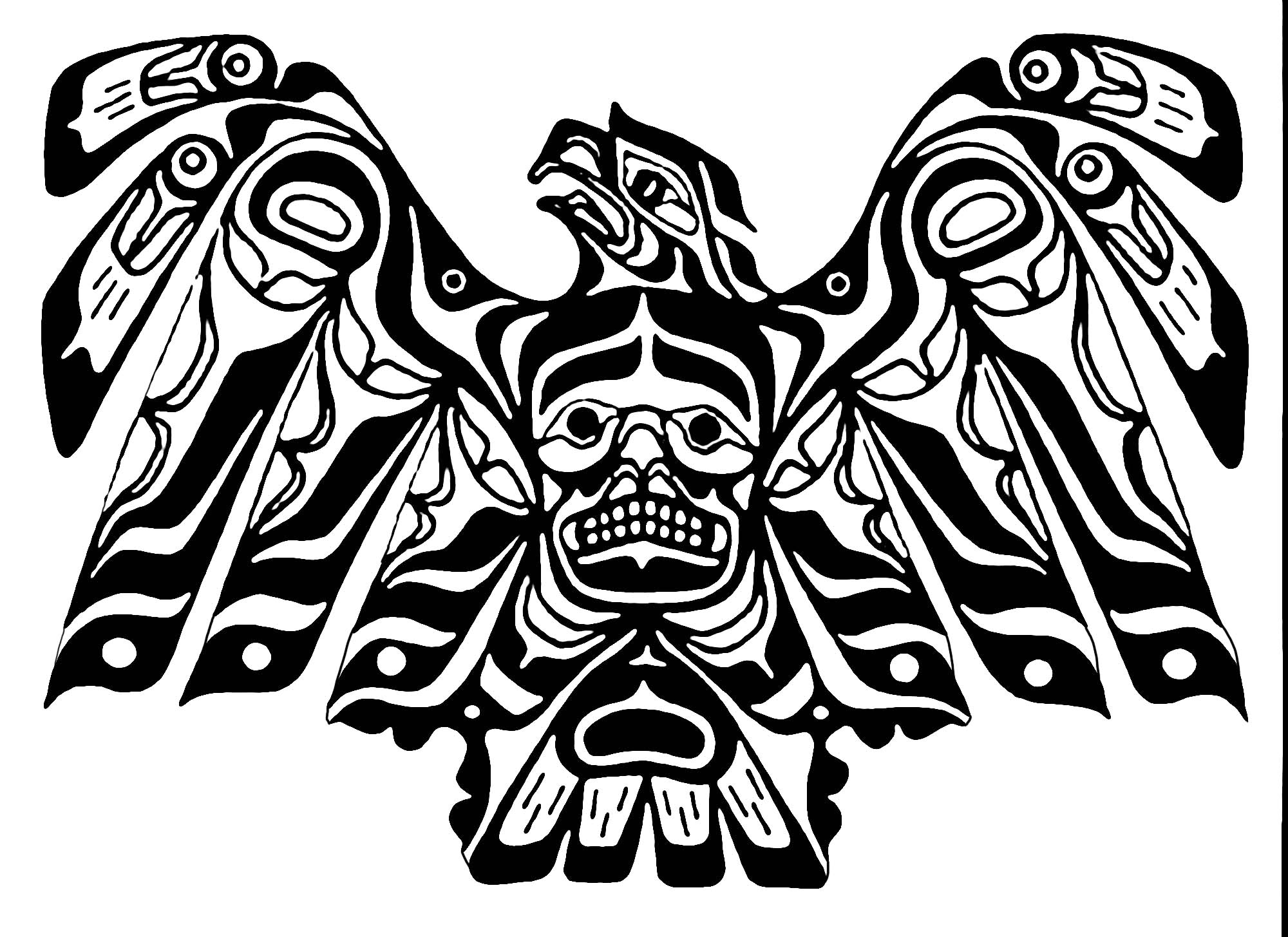 art northwest coastal people eagle native american art