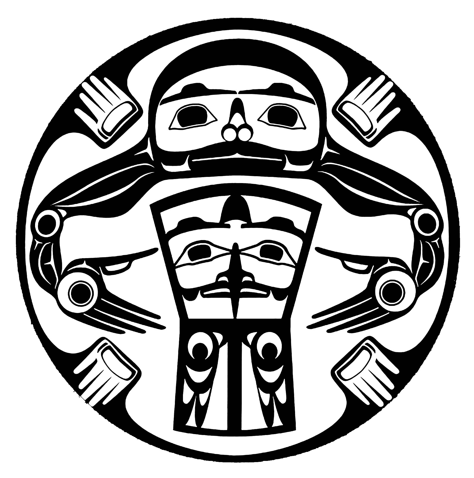 Art northwest coastal people potlatch moon roy native american moon roy inspired by artwork by henry vickers biocorpaavc Image collections