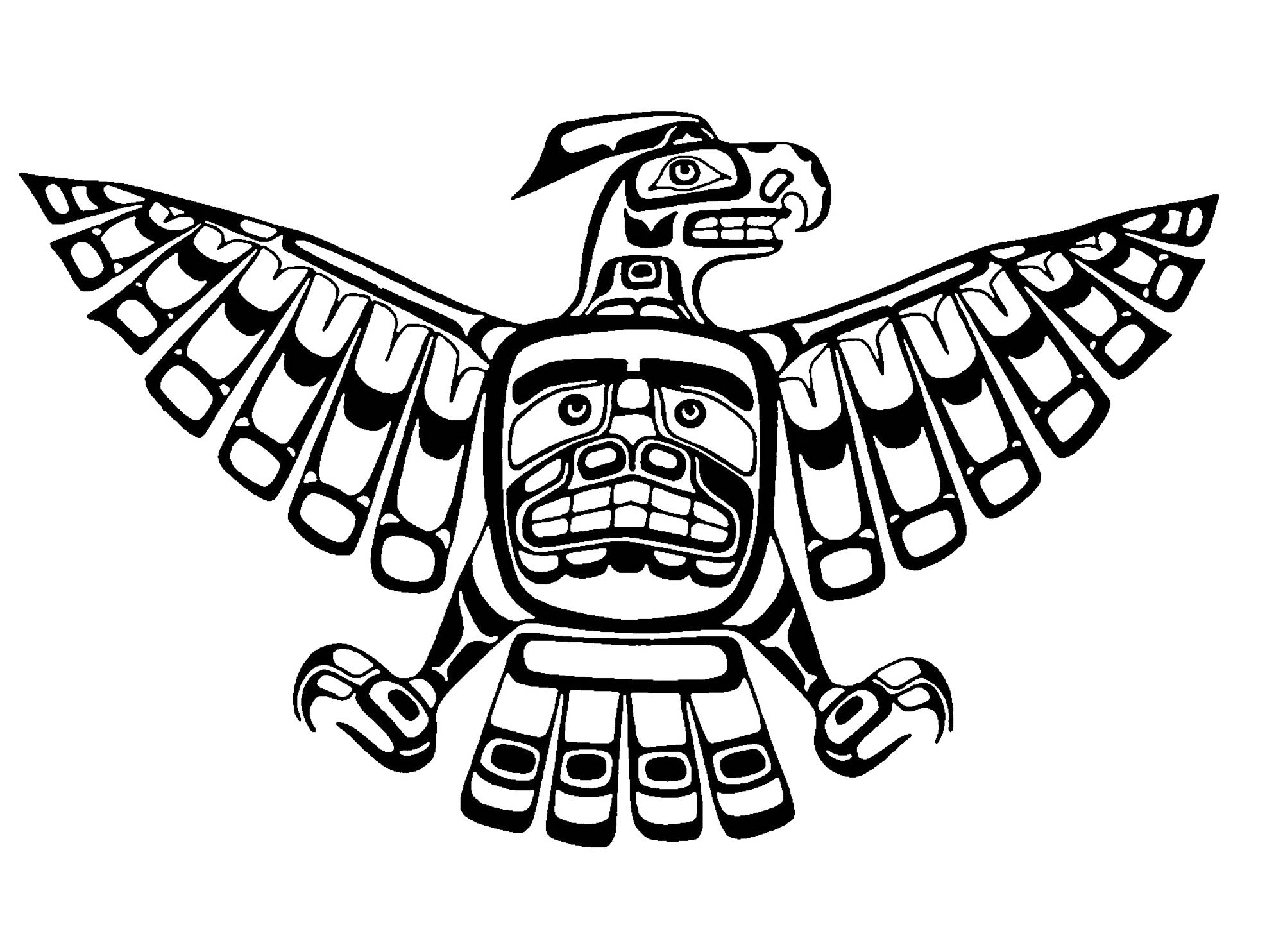 Tlingit coloring pages sketch coloring page for Thunderbirds coloring pages