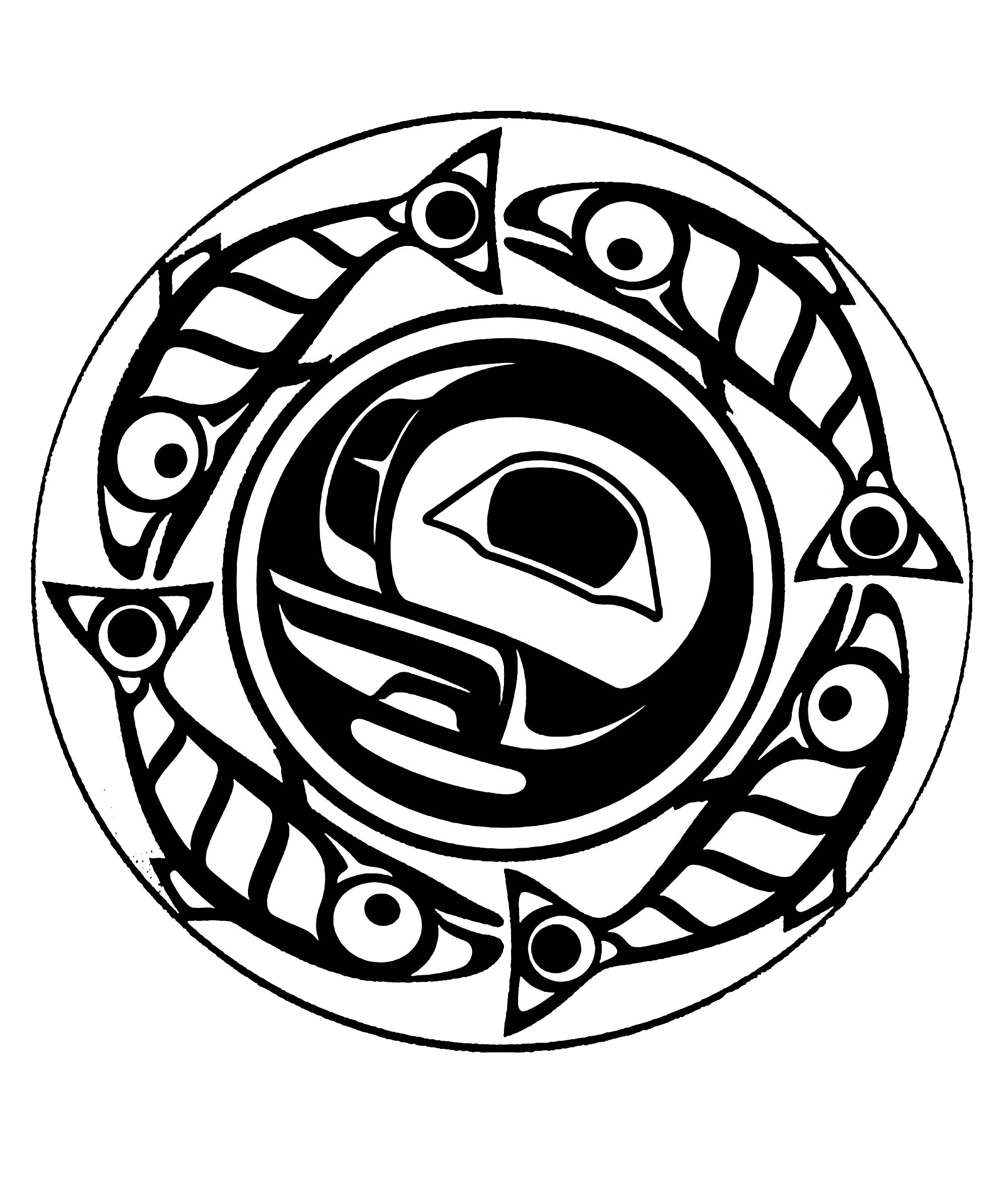 Art northwest coastal people true moon mandala native american true moon mandala biocorpaavc Image collections