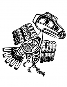 Art northwest coastal people thunderbird tlingit Native American Art Coloring pages for