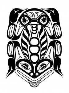 Coloring art northwest coastal people northern frog