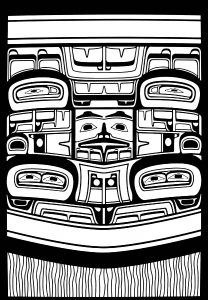 Coloring art northwest coastal people raven haida