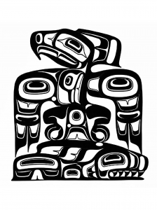Art northwest coastal people thunderbird