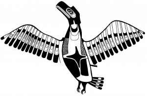 Coloring art northwest coastal people thunderbird haida