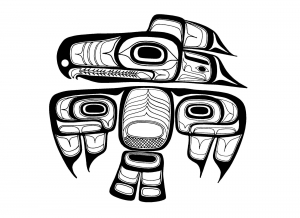 Coloring art northwest coastal people thunderbird tlingit