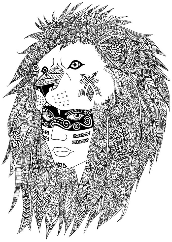 Native American - Coloring pages for adults | JustColor