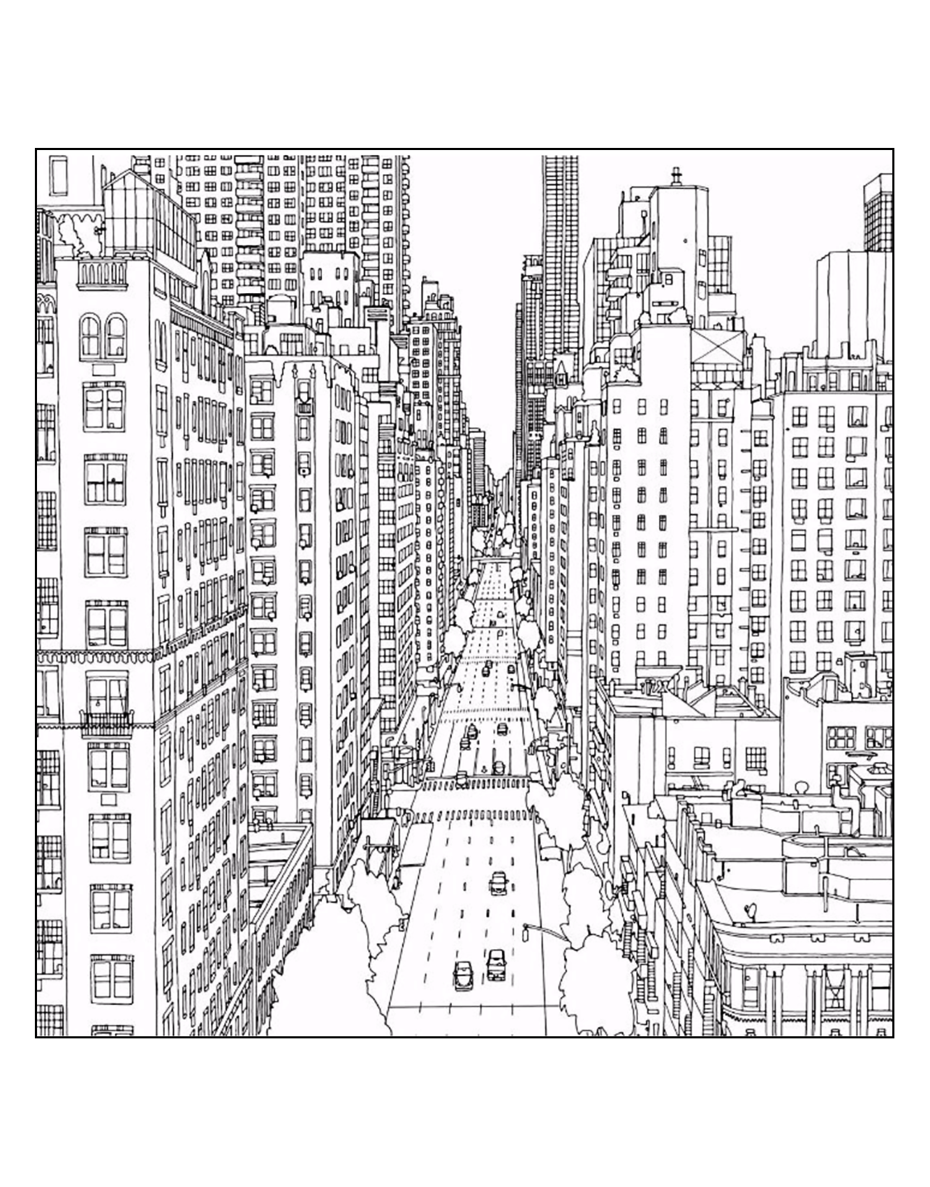 Coloring adult new york 1st avenue and east 60th street in manhattan source steve mcdonald