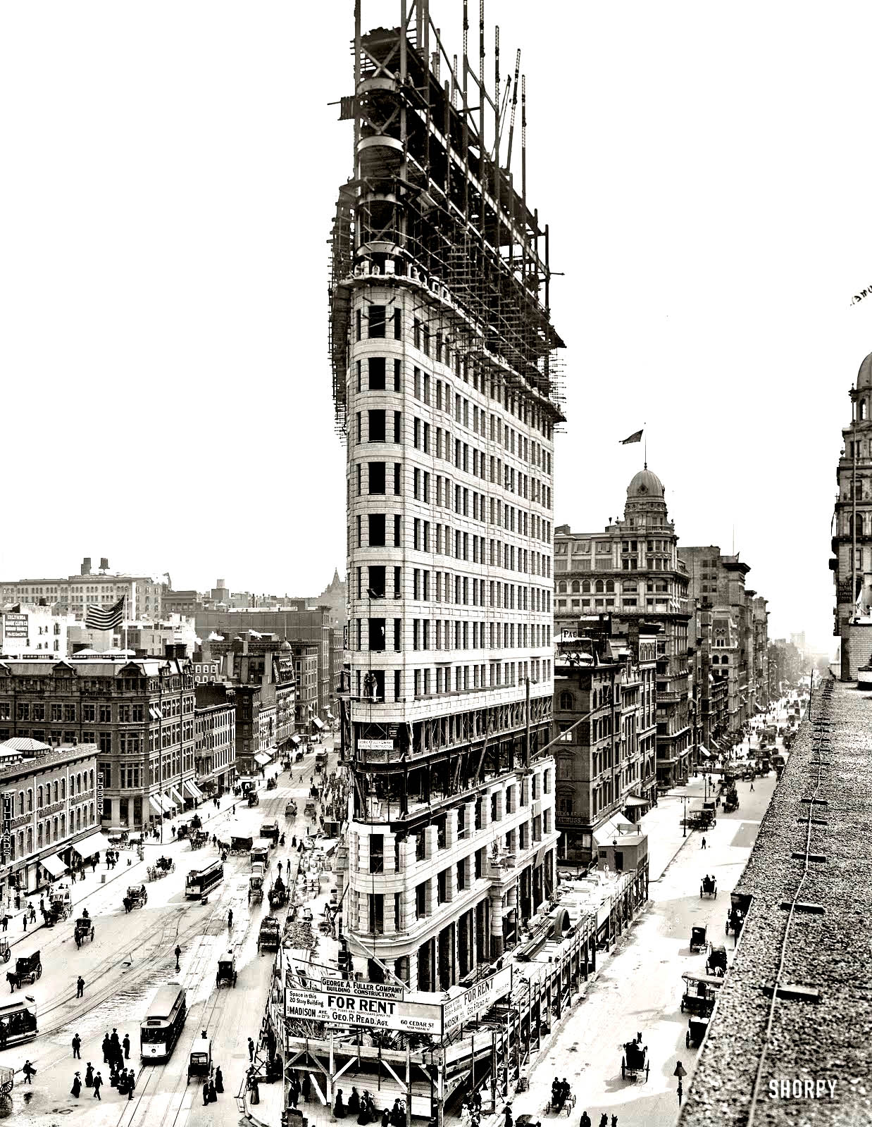 Coloring adult new york flatiron