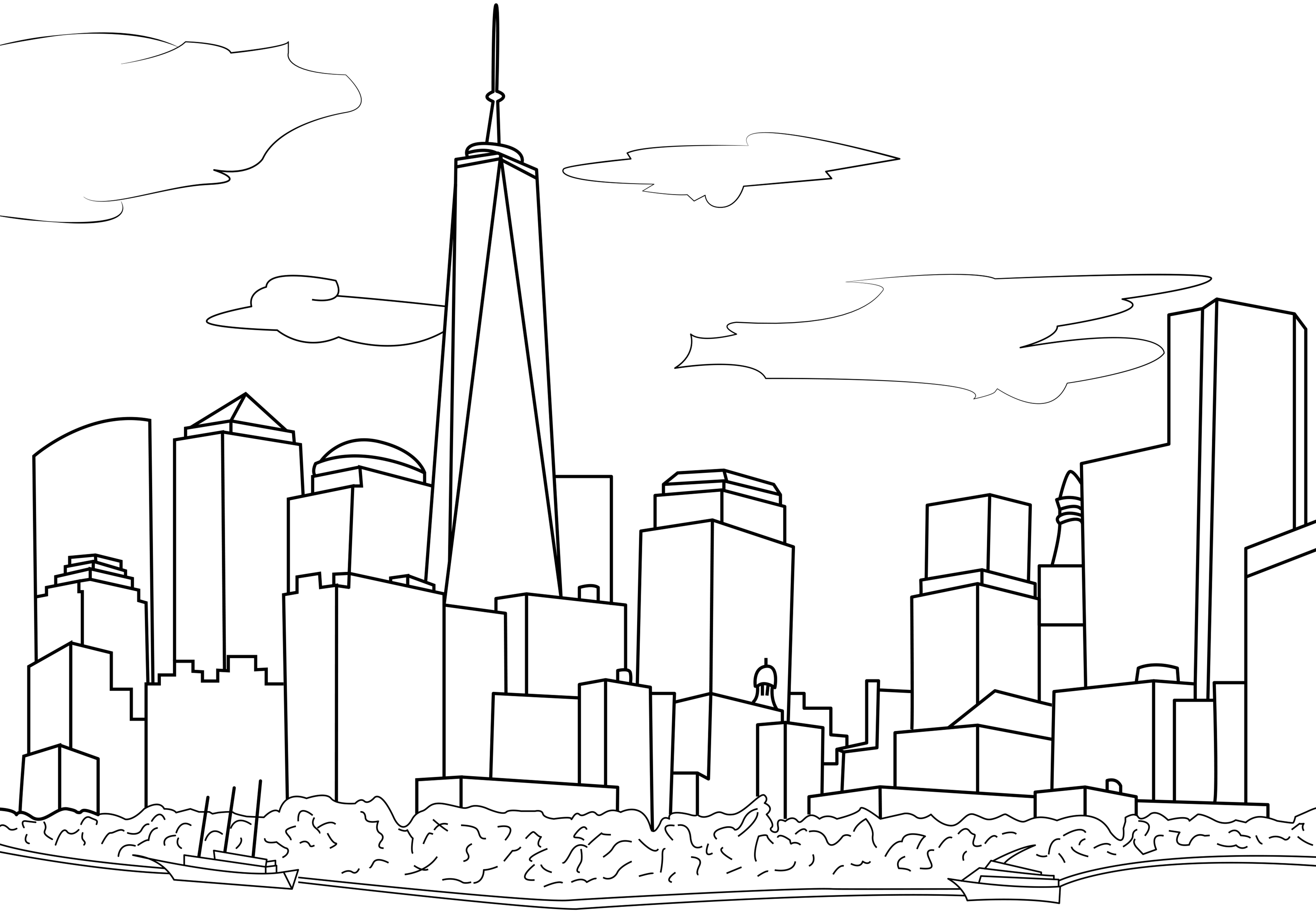 new york city coloring pages - photo#6