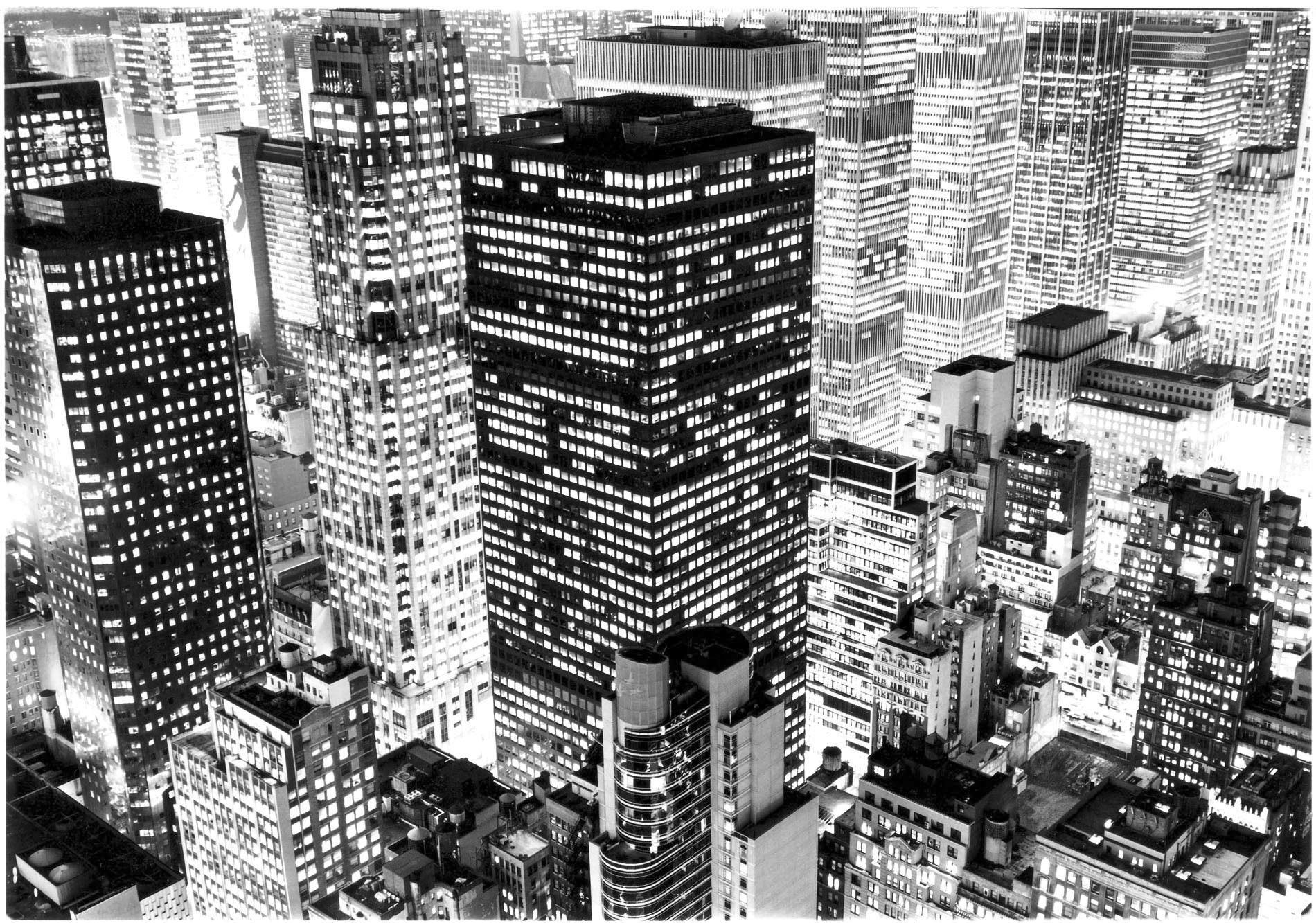 Coloring photo new york immeubles