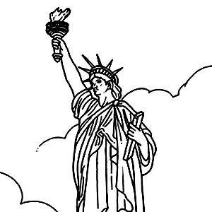 coloring adult new york statue liberte