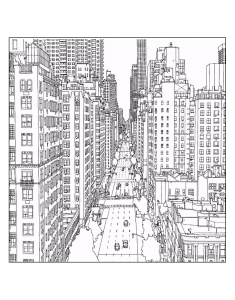 coloring-adult-new-york-1st-avenue-and-east-60th-street-in-manhattan-source-steve-mcdonald free to print