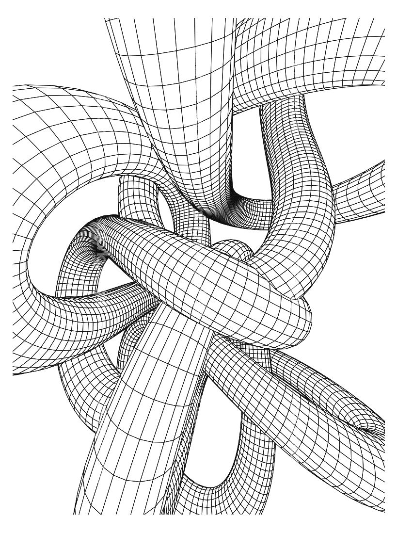 Tubing Op Art Coloring pages for adults JustColor