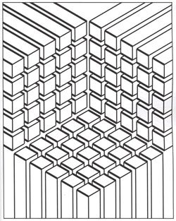 Op Art Coloring pages for adults JustColor