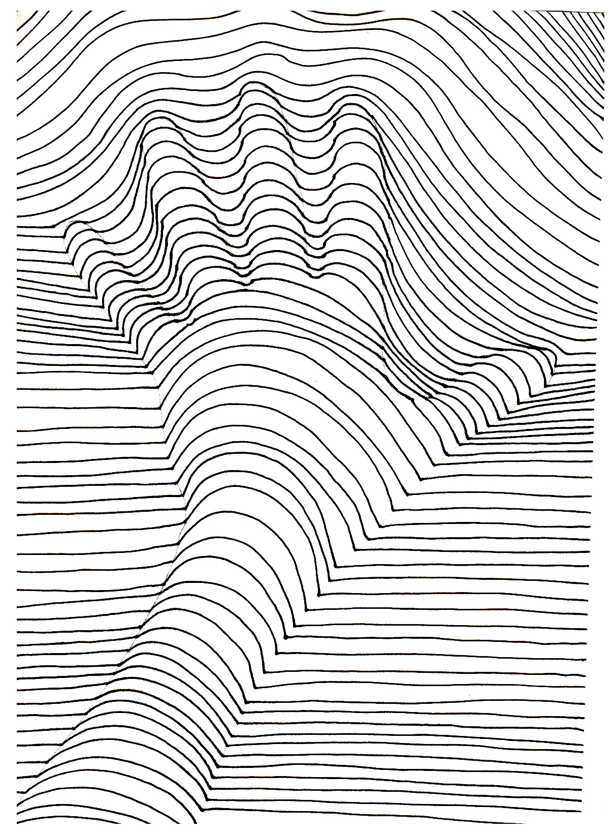 op art illusion optique main op art coloring pages for adults