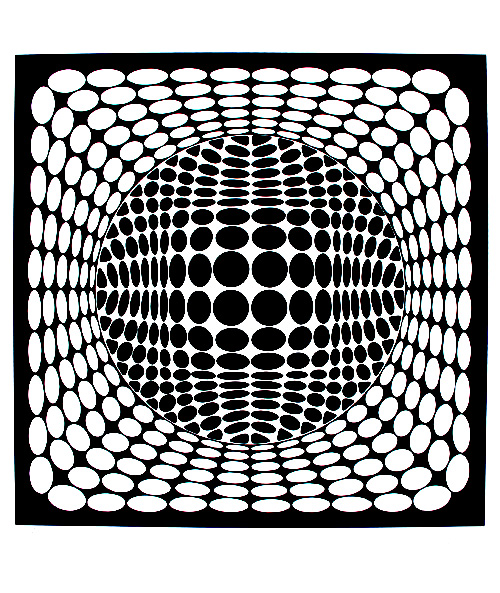 Op art illusion optique rond