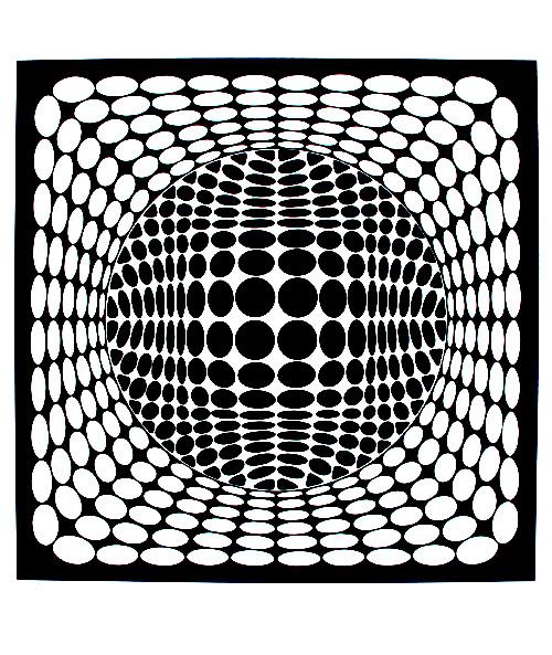 Black & white optical illusion