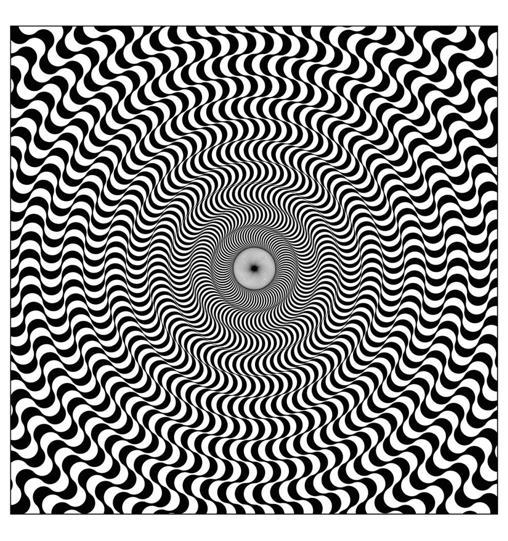 Crazy Optical Illusion Coloring Page | Fun for the Kiddos! | 1053x990