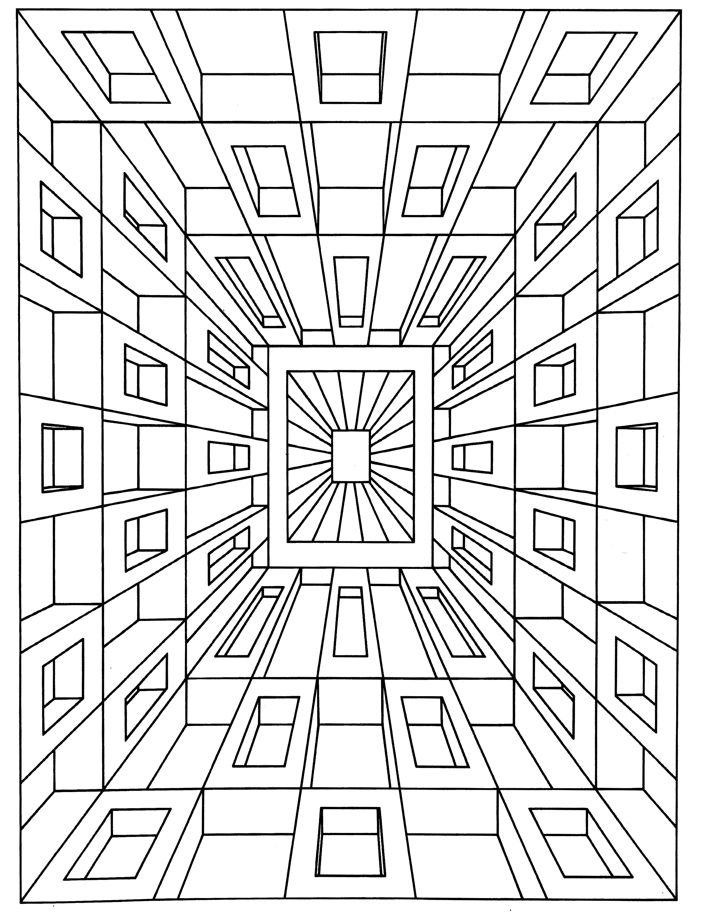 100 ideas Op Art Coloring Pages on emergingartspdx – Op Art Worksheet