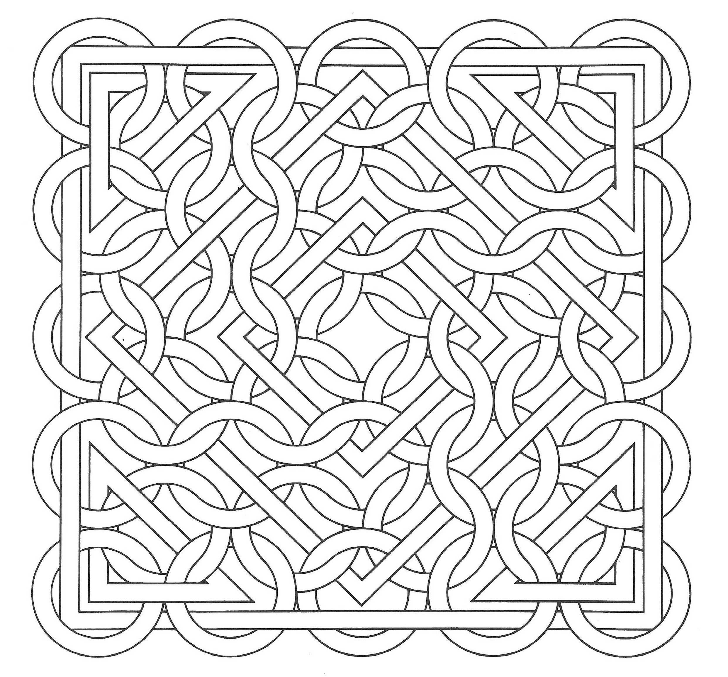 op art jean larcher 15 op art coloring pages for adults