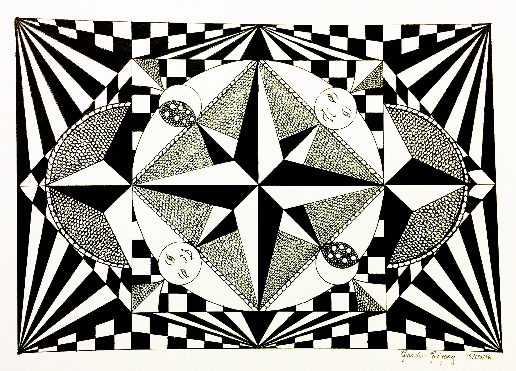 coloring page adults op art greg with this optical illusion we lose the north from the gallery op art