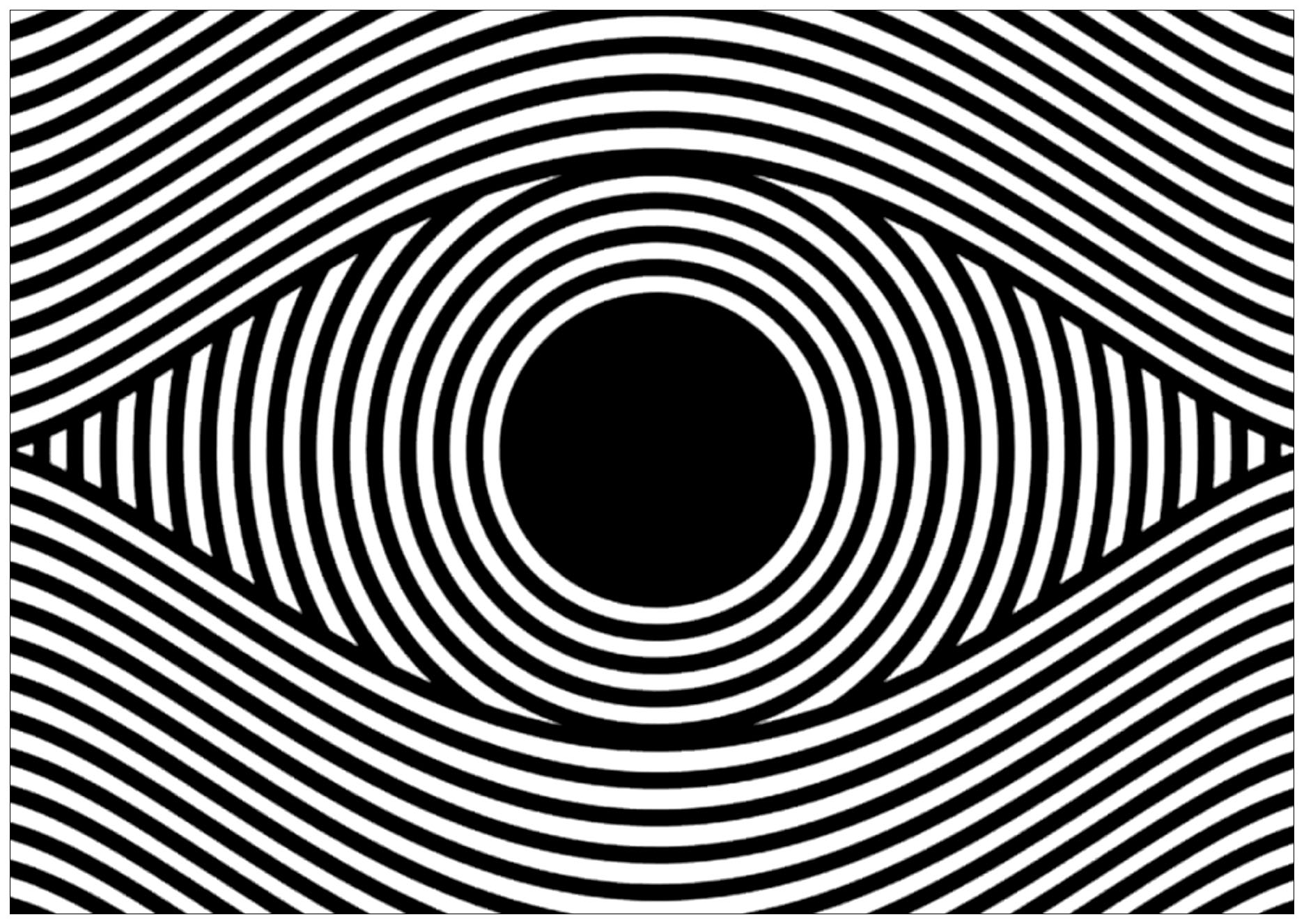 Op art eye landscape format - Optical Illusions (Op Art ...