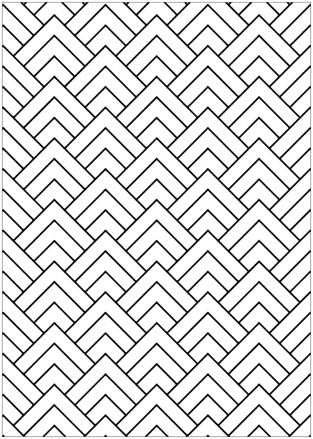 Triangular Shapes Optical Illusions Op Art Adult Coloring Pages
