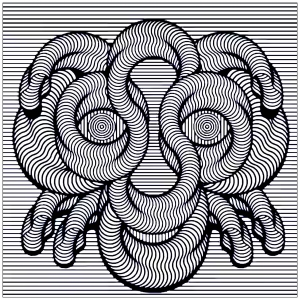 Optical Illusions Op Art Coloring