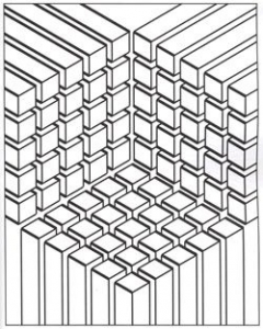 coloring-illusion-optic-cubes free to print