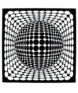 Coloring op art illusion optique rond