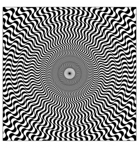 Coloring op art illusion optique