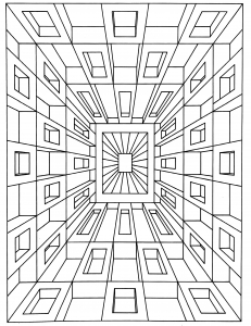 hard illusion coloring pages - photo#15