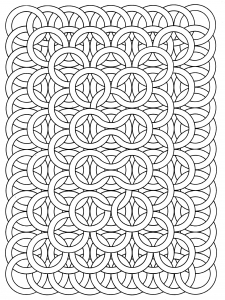 a good exemple of op art drawing by jean larcher - Free Art Coloring Pages
