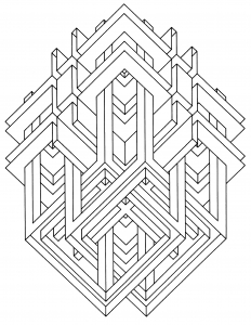 hard illusion coloring pages - photo#24