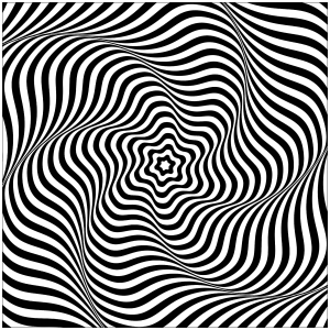 victor vasarely coloring pages | Optical Illusions (Op Art) - Coloring Pages for Adults