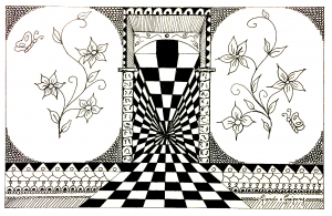 Coloring page adults op art greg 2