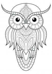 Coloring owl simple patterns 1