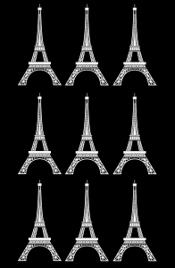 coloring adult tour eiffel