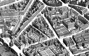 Coloring plan paris quartier 1739