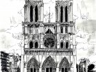 Notre Dame de Paris drawing