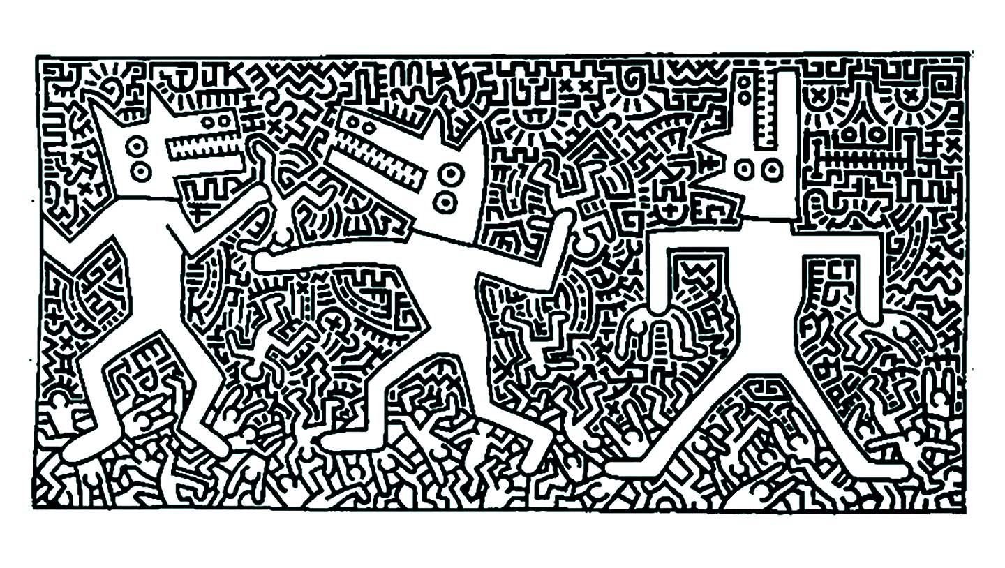 Keith haring 12 Pop Art Adult Coloring Pages