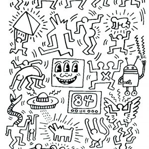 Keith haring Coloring pages - Coloring pages for adults | JustColor