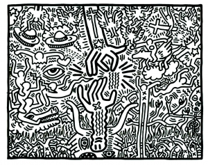 coloring-adult-keith-haring