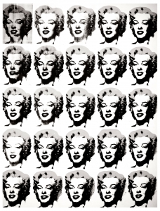 Coloring adult warhol marilyn monroe