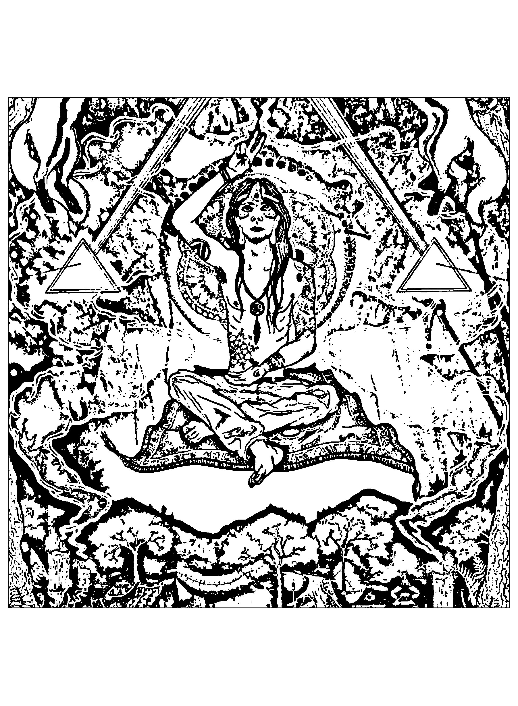 Uncategorized Meditation Coloring Pages psychedelic meditation illuminati symbols coloring your creations you have colored this page