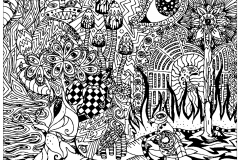 coloring-page-adult-psychedelic-patterns-hidden-cat