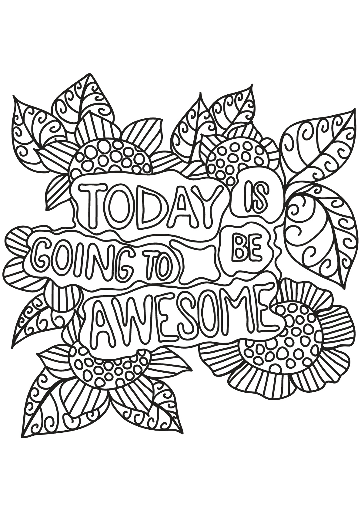 Free book quote 10 Quotes Adult Coloring Pages
