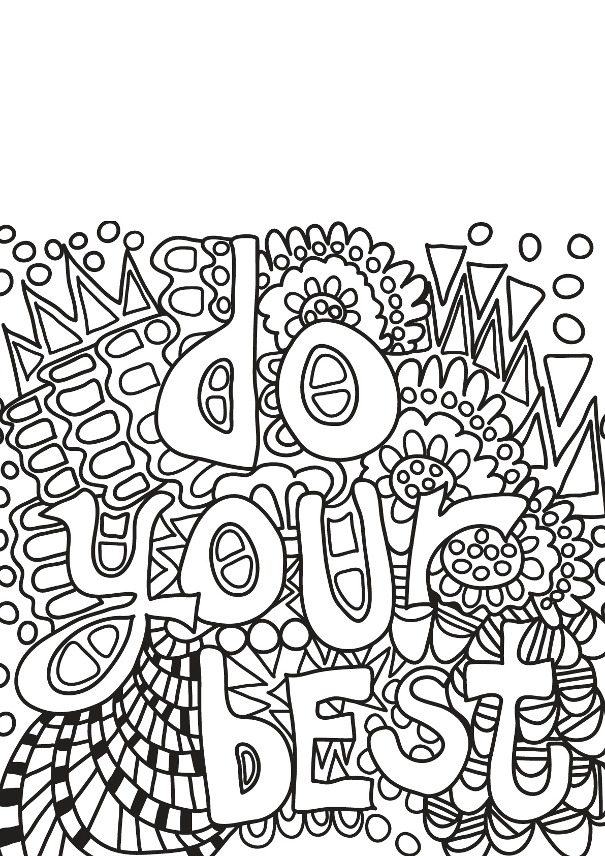 Free book quote 17 - Positive & inspiring quotes Adult Coloring Pages
