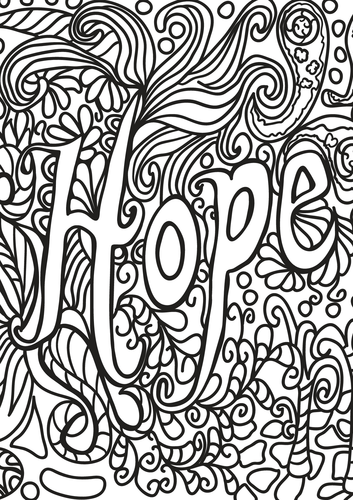 Free Book Quote 5 Positive Inspiring Quotes Adult Coloring Pages